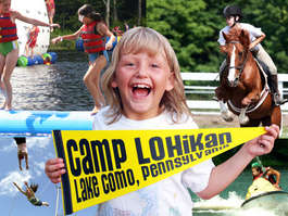 Logo of Camp Lohikan in the Pocono Mountains