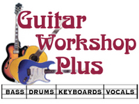 Logo of Guitar Workshop Plus...Bass, Drums, Keyboards & Vocals.